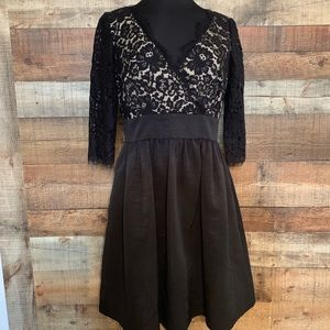 Eliza J. Black and nude lace dress, size 12